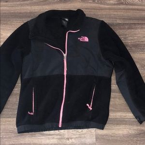 Black and pink children's north face